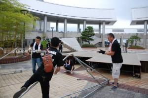 001)ステージ設営
